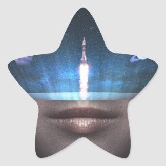 Universe in the Mind Star Sticker