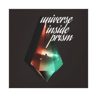 Universe inside prism canvas print