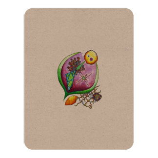 Universe of nut - eco card pop nature illustration 11 cm x 14 cm invitation card
