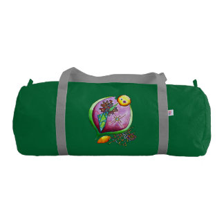 Universe of nut - gym bag pop nature illustration gym duffel bag