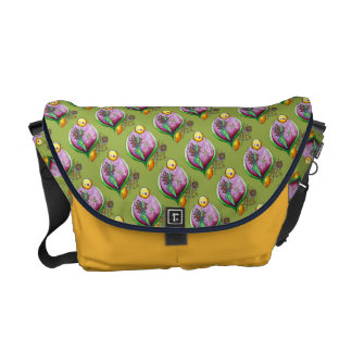 Universe of nut - messenger bag pop nature pattern