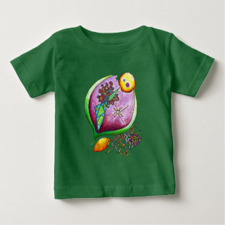 Universe of nut - nature illustration pop green baby T-Shirt