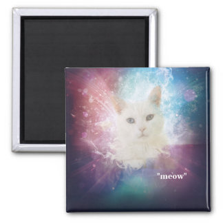 "Universe Space Cat ""meow"" Magnet"