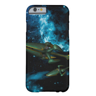 Universe with alien ship barely there iPhone 6 case