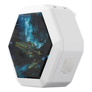 Universe with alien ship white boombot rex bluetooth speaker