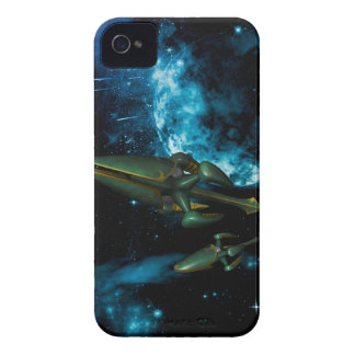 Universe with alien ship Case-Mate iPhone 4 cases