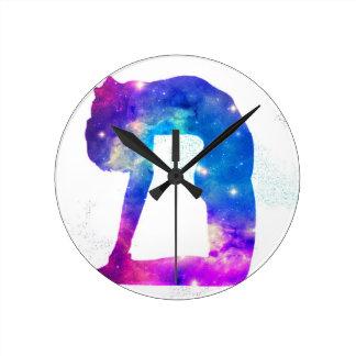 Universe Yoga Goddess Series Round Clock