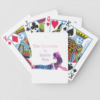 Universe Yoga Pose Series Bicycle Playing Cards