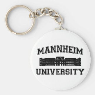 Universität Mannheim / Mannheim University Basic Round Button Key Ring
