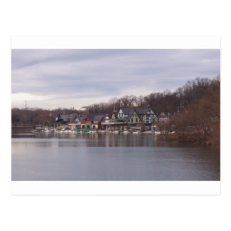 University and College Boathouses in Philadelphia Postcard