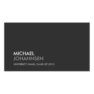 UNIVERSITY/COLLEGE STUDENT DARK Business Card