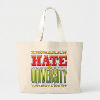 University Hate Face Canvas Bag