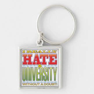 University Hate Face Keychain