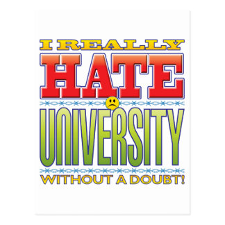 University Hate Face Post Cards