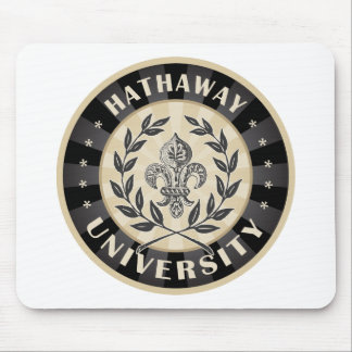 University Hathaway Black Mouse Pad