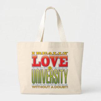 University Love Face Canvas Bag