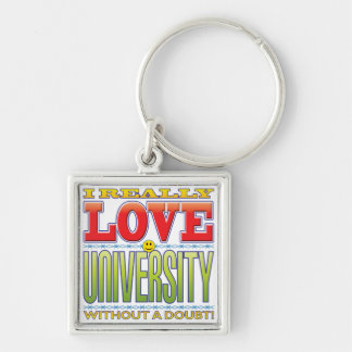 University Love Face Key Chains