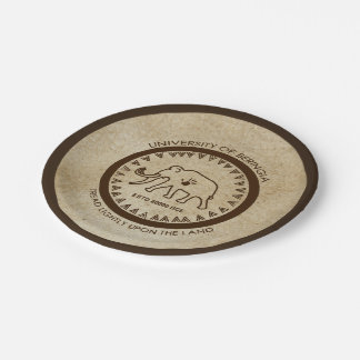 University of Beringia Mammoth Seal 7 Inch Paper Plate