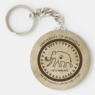 University of Beringia Mammoth Seal Key Ring