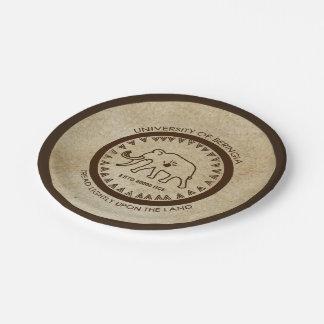 University of Beringia Mammoth Seal Paper Plate