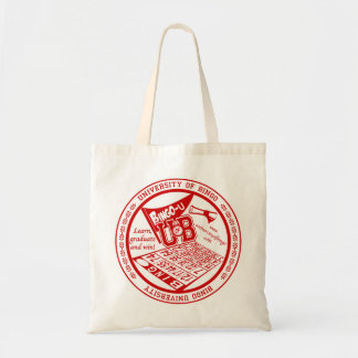 University Of Bingo red seal budget tote bag