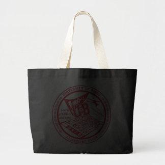 University Of Bingo red seal large tote bag