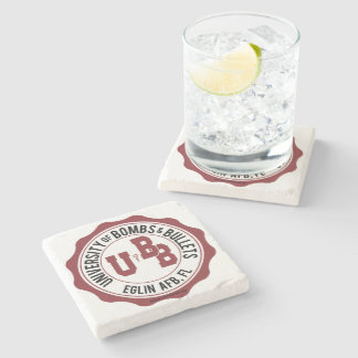 University of Bombs and Bullets Eglin Stone Coaster