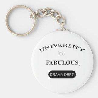 University of Fabulous (Drama Dept.) Basic Round Button Key Ring