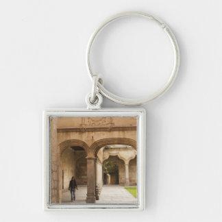 University of Salamanca Silver-Colored Square Key Ring