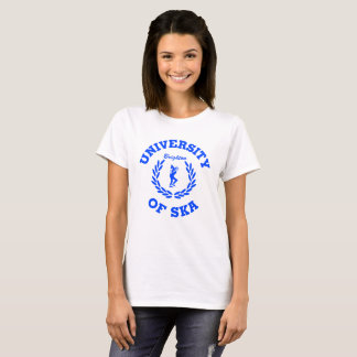 University of Ska  - Ladies Brighton blue design T-Shirt