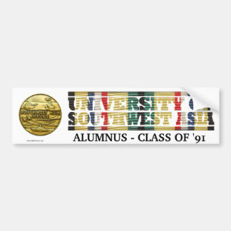 University of Southwest Asia Alumnus Sticker Bumper Sticker