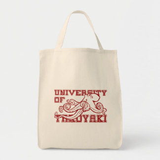 University of Takoyaki Japanese octopus funny Canvas Bags
