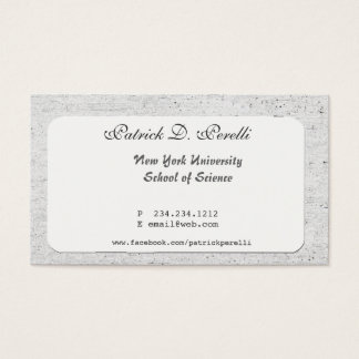 University Student College Business Card