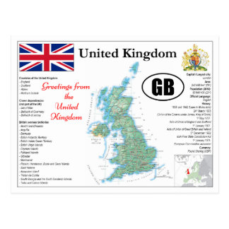 University Ted Kingdom map Postcard