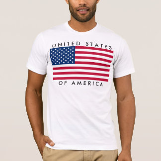 University Ted States OF America the USA flag T-Shirt