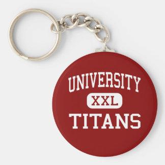 University - Titans - High - Spokane Washington Basic Round Button Key Ring
