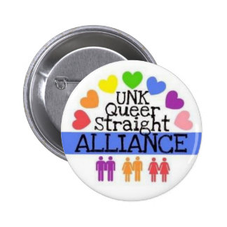 UNK Queer Straight Alliance Button
