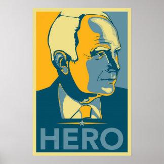 Unknown Artist - McCain Hero Print