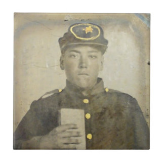 Unknown Confederat Soldier Ceramic Tile