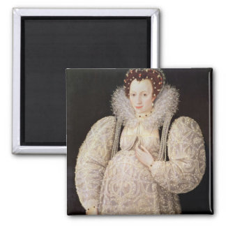 Unknown Lady, c.1595-1600 Square Magnet