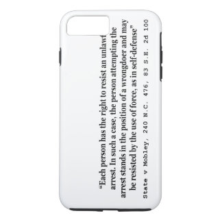 Unlawful Arrest and Self Defense State v Mobley iPhone 7 Plus Case