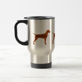 UNLEASH THE VIZSLA (travel mug) Travel Mug