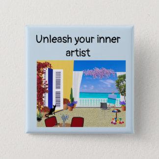 """Unleash your inner artist"" button"