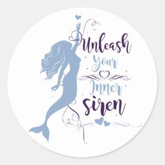 Unleash Your Inner Siren Classic Round Sticker