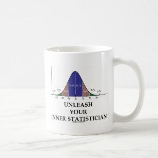 Unleash Your Inner Statistician (Bell Curve Humor) Coffee Mug