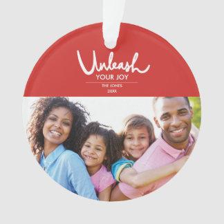 Unleash Your Joy | Family Photo Holiday Ornament