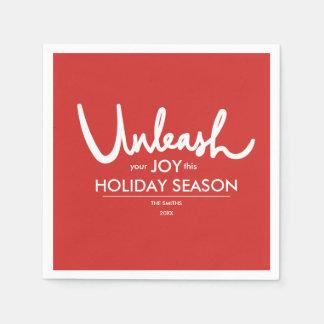 Unleash Your Joy | Holiday Party Red Festive Disposable Serviette