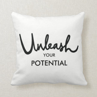 Unleash Your Potential   Positive Attitude Cushion