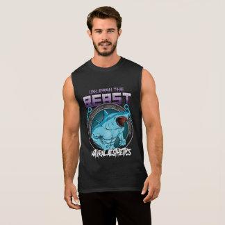 unleashed the beast, natural aesthetics sleeveless shirt