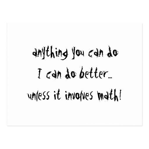 Unless It Involves Math Postcard